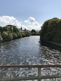 View of flowing river from a bridge in Galway, Ireland, province. Of Connach Stock Images