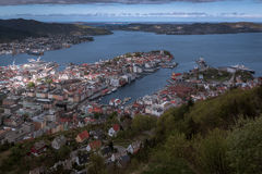 View from Floyen. View on Bergen, Norway Stock Photography