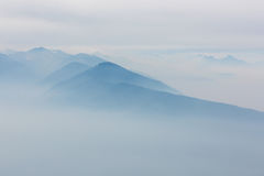 View at foggy mountains Royalty Free Stock Photo