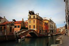 View of Fondamenta Briati bridge in Venice, Italy Stock Photo