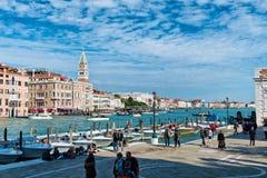 View at Fondamenta Salute in Venice, Italy Royalty Free Stock Photos