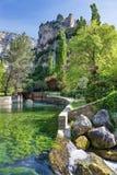 `Fontaine-de-Vaucluse` - Provence - France. View of `Fontaine-de-Vaucluse` - Provence - Vaucluse - France stock photo