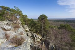 View from Fontainebleau Stock Photo