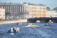 View of the Fontanka River in Saint Petersburg Stock Photography