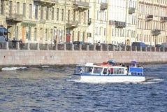View of the Fontanka River in Saint Petersburg Stock Image