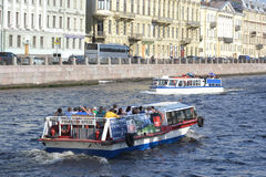 View of the Fontanka River in Saint Petersburg Stock Images