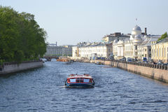 View of the Fontanka River in Saint Petersburg Royalty Free Stock Photos