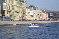 View of the Fontanka River in Saint Petersburg Royalty Free Stock Photo