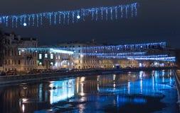 View on the Fontanka river. Royalty Free Stock Photo