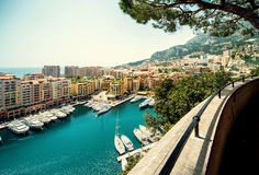 View of Fontvieille Stock Photos