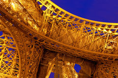 View at foot of Eiffel Tower. Stock Images
