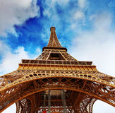 View at foot of Eiffel Tower .Paris,France Stock Image