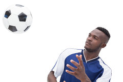 View of football player playing Royalty Free Stock Photo