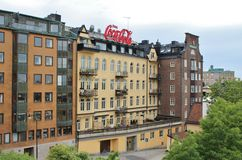 View from the footbridge towards Katarinahissen Stock Photography