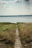 View of footpath to River Thames Royalty Free Stock Image
