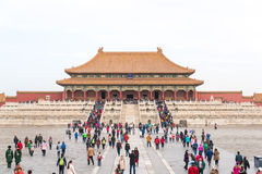 View of the Forbidden City, Palace Museum. stock photo