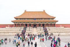 View of the Forbidden City, Palace Museum. Royalty Free Stock Photo