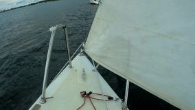 On the fore of yacht. View from a fore of yacht in moving stock video footage