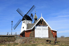 Lifeboat station building and windmil,l Lytham Royalty Free Stock Image