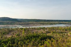 View of forest and river Royalty Free Stock Images