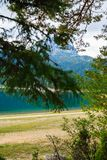 Lake in the forest park Durmitor. Montenegro. stock photography