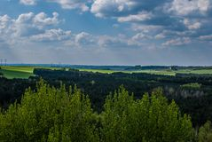 View of forest. From the top Royalty Free Stock Photos