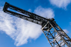 View form below of the Finnieston crane. Glasgow. Stock Photos