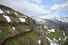 View form cable lift to Mount Schareck, Austria Royalty Free Stock Photography