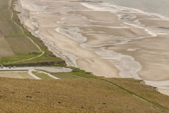 View form Cap Blanc Nez on Escalles village in France. Royalty Free Stock Images