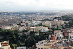 View form the cupola of Vatican Saint Peter`s Cathedral Stock Image