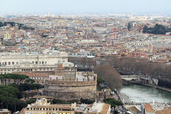 View form the cupola of Vatican Saint Peters Cathedral Royalty Free Stock Images