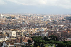 View form the cupola of Vatican Saint Peters Cathedral Stock Photography