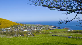 View Form Gartmore In Spring, Helmsdale. Sutherland, Scotland, UK Stock Image