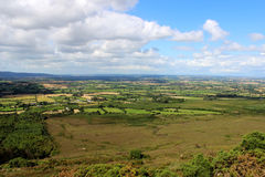 View form the hill to Irish countryside Royalty Free Stock Images