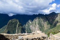View form Machu Pichu Stock Photography