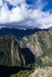 View form Machu Pichu Stock Photography