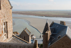 View form Mont Saint Michel Royalty Free Stock Photography