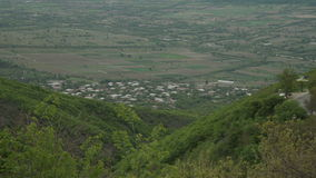 View form mountain on Alazani valley Georgia stock video footage
