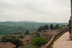View form Todi on hills around stock image
