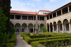 View of former convent of Santa Clara 16th century now city hall in Guimaraes, North Region, Portugal stock photography