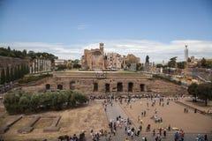View at Foro Romano in Rome, Italy Stock Photo