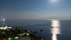 The view from foros in the Eastern part of the coastline in the night lights 11. The view from foros in the Eastern part of the coastline stock image