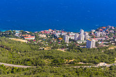 View on Foros town coastal landscape. Crimea, Russia royalty free stock image