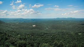 View of Forrest and Sky. The view of forrest is from the Ozark National Forrest, Arkansas Stock Photography