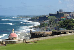 View from the fort. View from fort El Morro in San Juan Royalty Free Stock Image