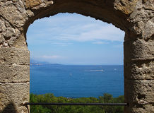View from Fort Carre arch royalty free stock image
