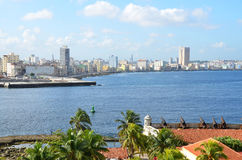View from the fort Castillio el Morro on the capital Havana Stock Images