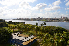 View from the fort Castillio el Morro on the capital Havana Royalty Free Stock Photos