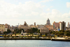 View from the fort Castillio el Morro on the capital Havana Royalty Free Stock Images