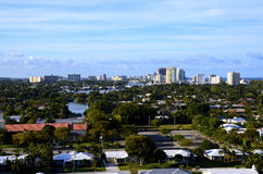 View of Fort Lauderdale From Port Everglades Royalty Free Stock Photography